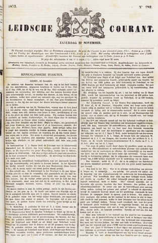 Leydse Courant 1873-11-29