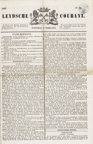 Leydse Courant 1865-02-15