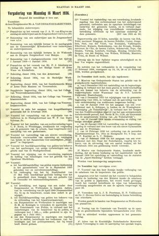 Handelingen van de Raad 1936-03-16