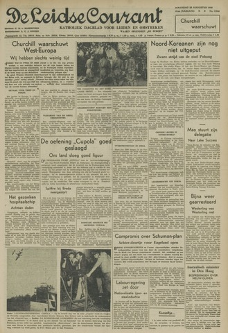 Leidse Courant 1950-08-28