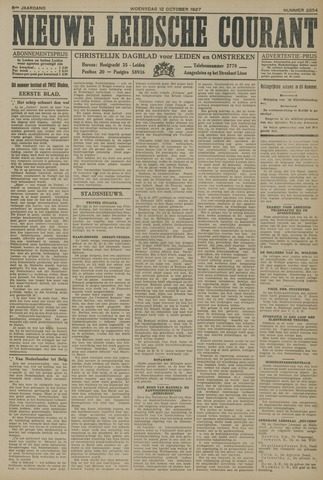 Nieuwe Leidsche Courant 1927-10-12