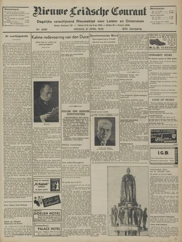 Nieuwe Leidsche Courant 1939-04-21