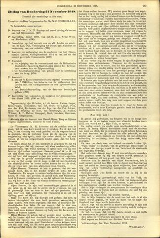 Handelingen van de Raad 1918-11-21