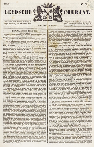 Leydse Courant 1869-06-14
