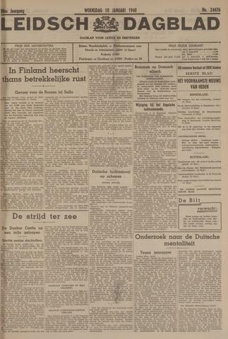 Leidsch Dagblad 1940-01-10
