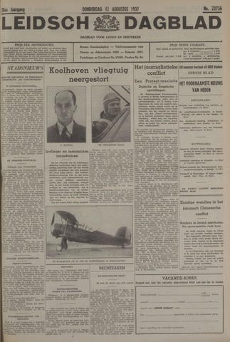 Leidsch Dagblad 1937-08-12