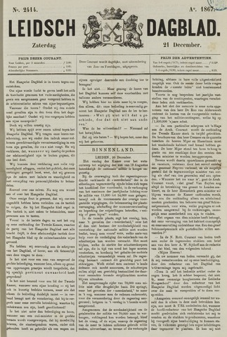Leidsch Dagblad 1867-12-21