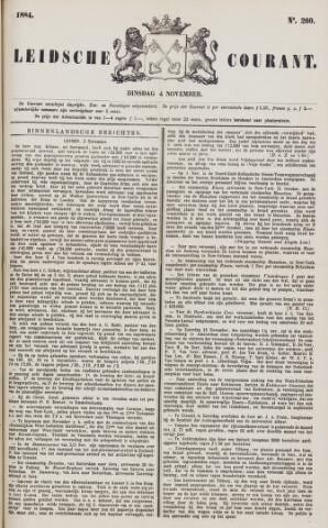 Leydse Courant 1884-11-04
