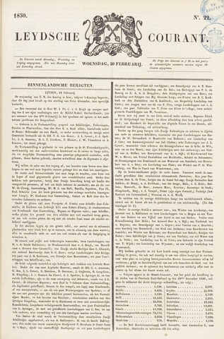 Leydse Courant 1850-02-20