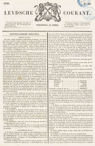 Leydse Courant 1850-04-24