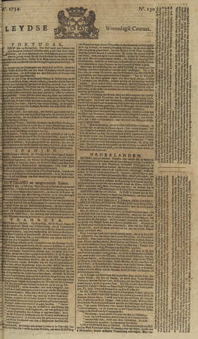 Leydse Courant 1754-10-30