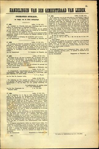 Handelingen van de Raad 1874-07-25