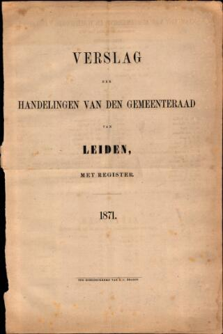 Handelingen van de Raad 1871-01-01