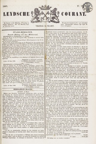 Leydse Courant 1865-03-24