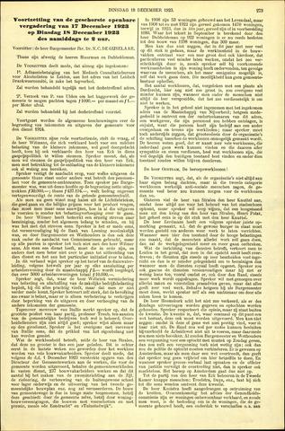 Handelingen van de Raad 1923-12-18