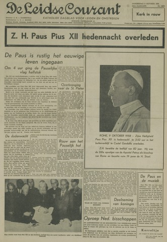 Leidse Courant 1958-10-09