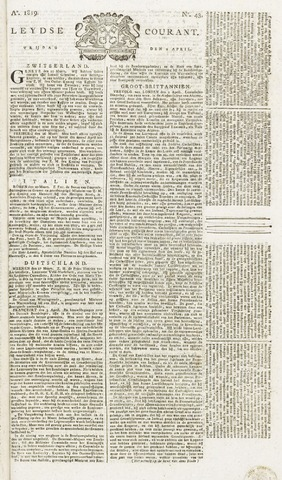 Leydse Courant 1819-04-09