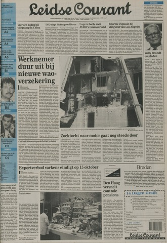 Leidse Courant 1992-10-09