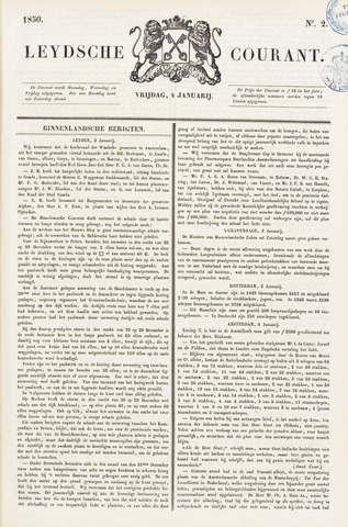 Leydse Courant 1850-01-04