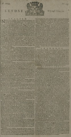 Leydse Courant 1734-10-29
