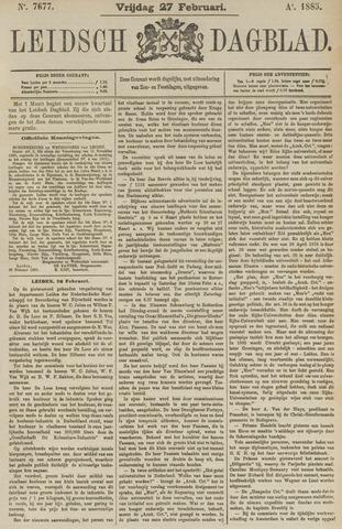 Leidsch Dagblad 1885-02-27