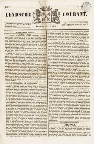 Leydse Courant 1862-01-24