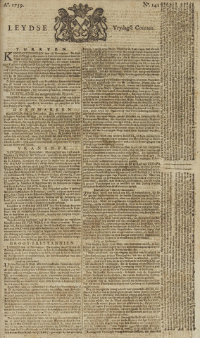 Leydse Courant 1759-11-23