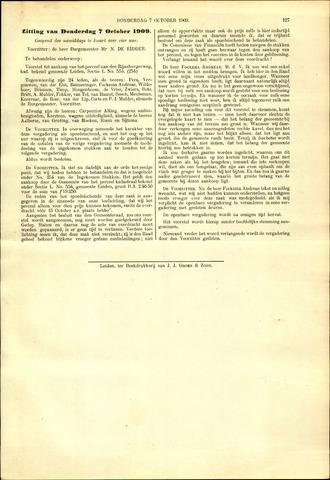 Handelingen van de Raad 1909-10-07