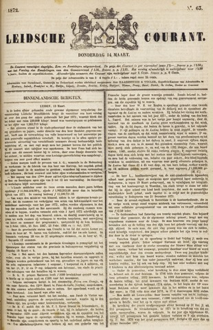 Leydse Courant 1872-03-14