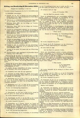 Handelingen van de Raad 1916-12-21