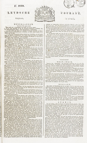 Leydse Courant 1839-04-26