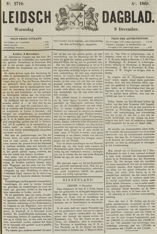 Leidsch Dagblad 1868-12-09