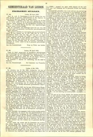 Handelingen van de Raad 1915-04-28