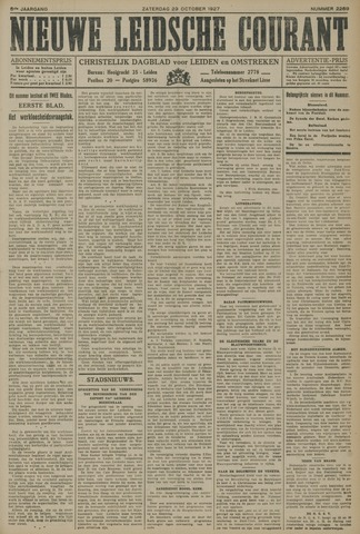 Nieuwe Leidsche Courant 1927-10-29