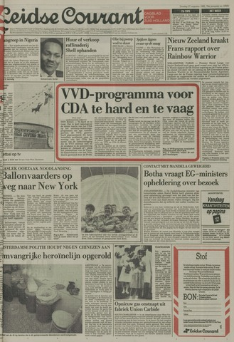 Leidse Courant 1985-08-27