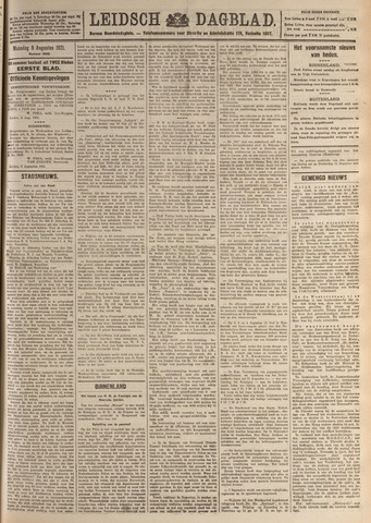 Leidsch Dagblad 1921-08-08