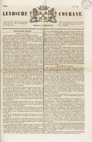 Leydse Courant 1862-08-15