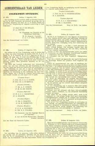 Handelingen van de Raad 1935-08-05