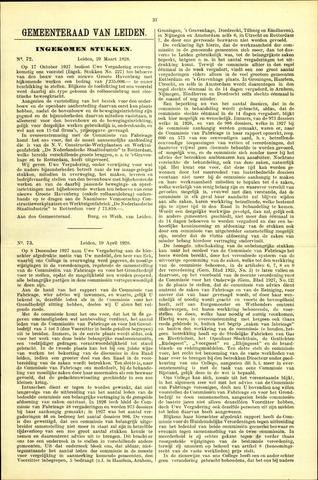 Handelingen van de Raad 1928-03-29