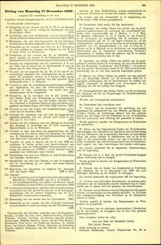 Handelingen van de Raad 1923-12-17