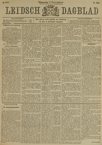 Leidsch Dagblad 1904-11-07
