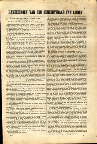 Handelingen van de Raad 1871-02-16