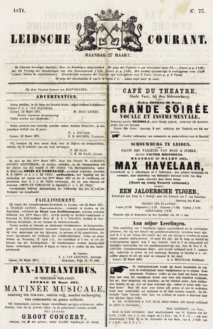 Leydse Courant 1871-03-27