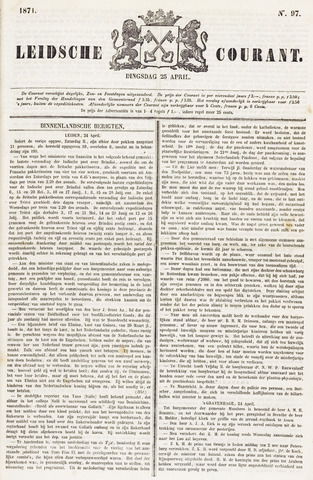 Leydse Courant 1871-04-25