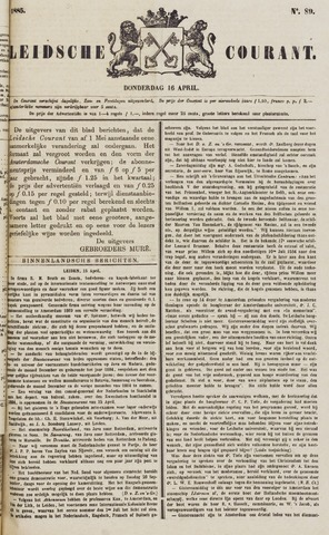 Leydse Courant 1885-04-16