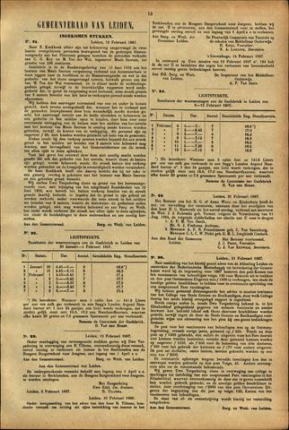 Handelingen van de Raad 1887-02-12