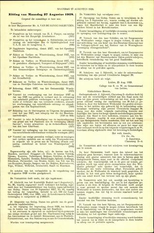 Handelingen van de Raad 1928-08-27
