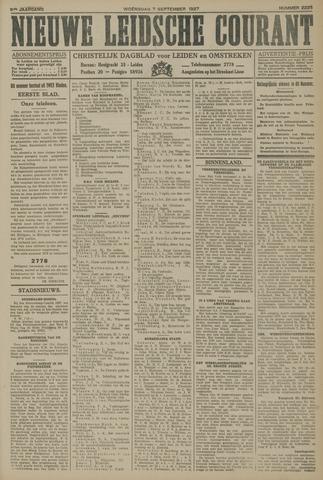 Nieuwe Leidsche Courant 1927-09-07
