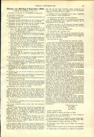 Handelingen van de Raad 1905-09-05
