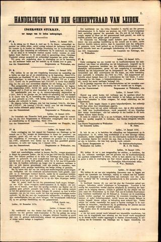 Handelingen van de Raad 1875-01-11